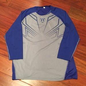 Under Armour blue shirt, Size XL
